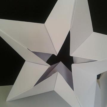 Origami estrela de 5 pontas