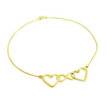 Pulseira Amor Infinito e Brilhantes | Ouro 18k