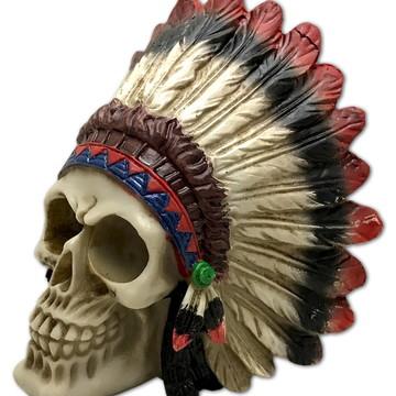Crânio GR Índio feito em Resina
