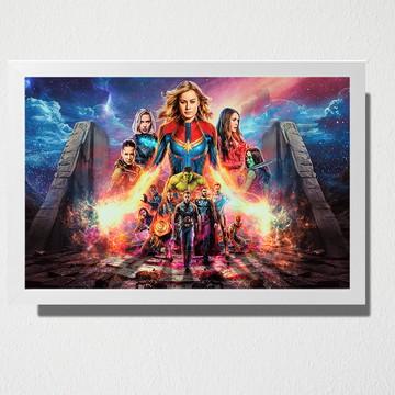 Quadro A3 Os vingadores Marvel