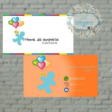 Cartão de visita Buffet infantil digital