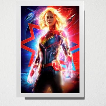 Quadro A3 Capitã Marvel