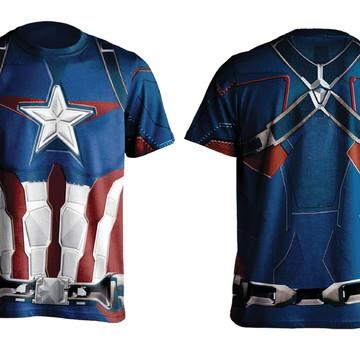 Camiseta Capitão América Slim Fit