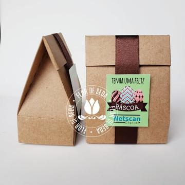 lembrancinha para páscoa caixa personalizada com chocolate