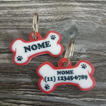 Placa De Identificação De Acrilico - Pet - Cachorro - Gato