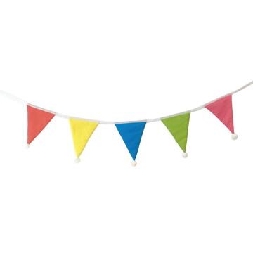 Bandeirola colorida com pompom