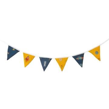 Bandeirola Espaço azul e amarelo