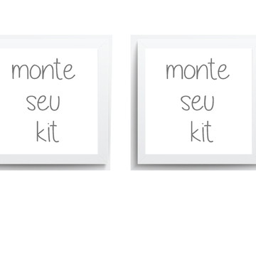 Quadro Infantil - Monte seu kit