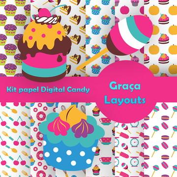 Kit papel digital Candy