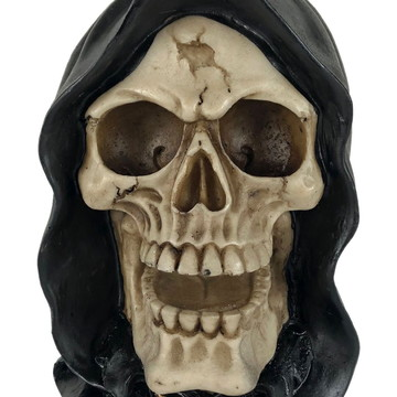 Crânio Morte feito em Resina