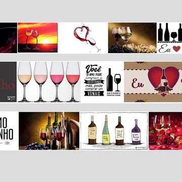 Quadro vinho adega uva taças decoração amor casal