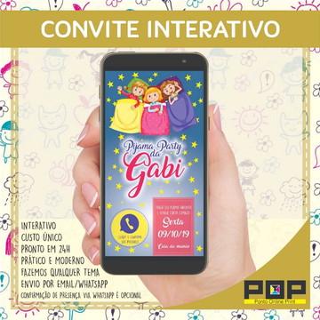 Convite Festa do pijama interativo