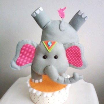Elefante de Circo em feltro - Coleção Circo
