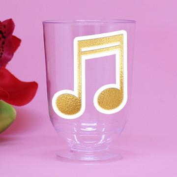 Tacinha/copinho/taça para doce – foil - notas musicais