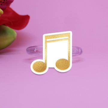 Porta-guardanapo individual - foil - notas musicais