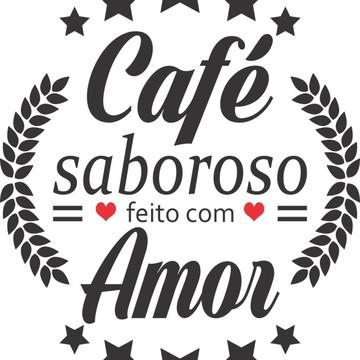 Adesivo Decorativo de Parede Frase Café Saboroso Com Amor