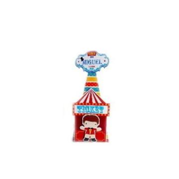 Caixa Cone 2 apliques 3D Circo