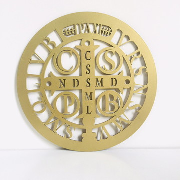 Mandala de São Bento Dourada