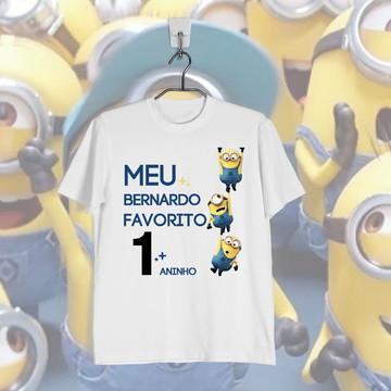 Camiseta Minions Infantil Personalizada Aniversario