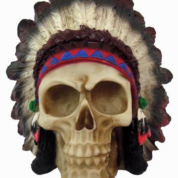 Crânio PQ Índio feito em Resina