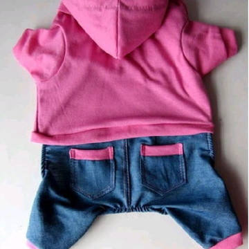 Macacao Jeans Rosa