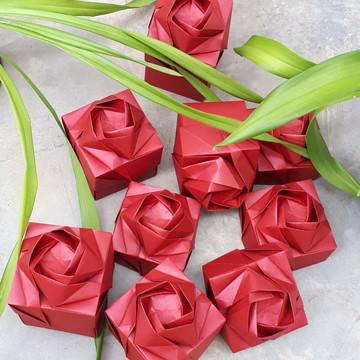 Caixa Origami-Lembrancinha Casamento-Med