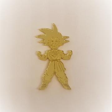Aplique em acrílico espelhado - Dragon Ball Z 4 cm