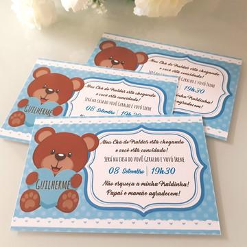 Convite Impresso Ursinho