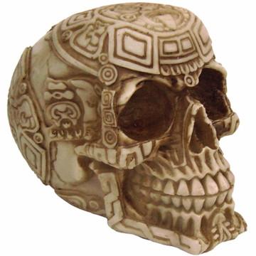 Crânio Tribal Asteca feito em Resina
