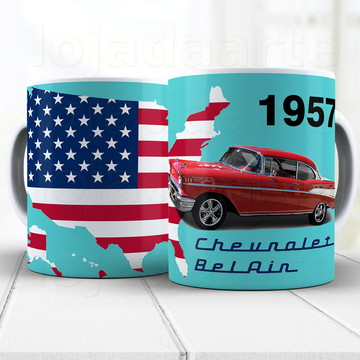 Caneca Chevy Bel Air 1957 - Xicara 674