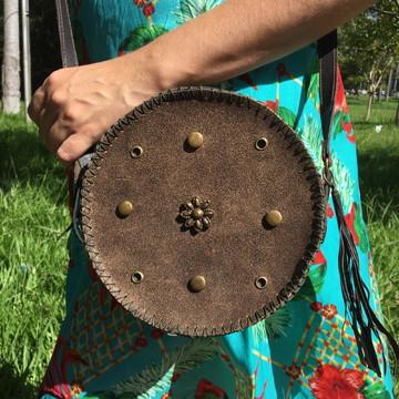 Bolsa Redonda Pequena com alça Transversal