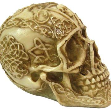 Crânio Tribal Maia feito em Resina