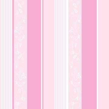 Papel de Parede Quarto Bebê Rosa e branco Listrado 5 Metros