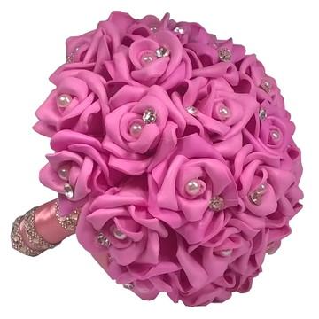 Buquê Daminha De Honra Casamentos Pequeno Rosa Pink