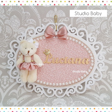Enfeite Porta Maternidade Rosé