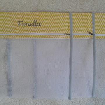 Saquinho de Maternidade Chevron mini amarelo e cinza