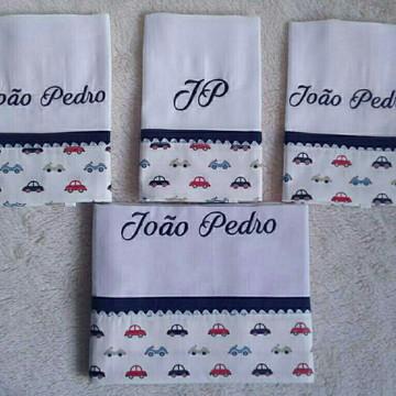 Kit Fralda Carros 4 itens