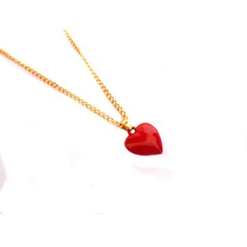 Colar Feminino Coração Vermelho