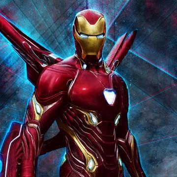 Faixa decorativa em adesivo do Homem de Ferro