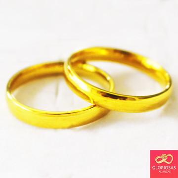 Par De Alianças Tradicional 4mm Casamento