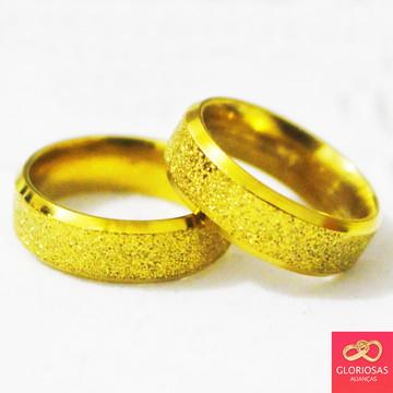 Par De Alianças Chanfrada Diamantada 6MM Casamento E Noivado