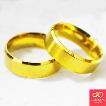 Alianças Chanfrada 6mm Casamento E Noivado