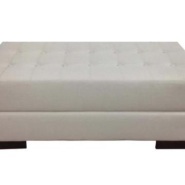 Recamier Solteiro Botonê Alce Couch Linho Crú 90cm