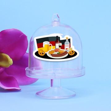 Mini-cúpula com aplique - Alemanha comida