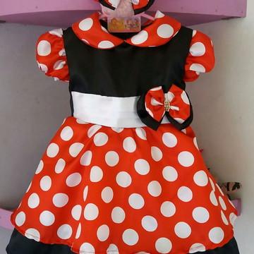 Vestido Infantil Minie Vermelho