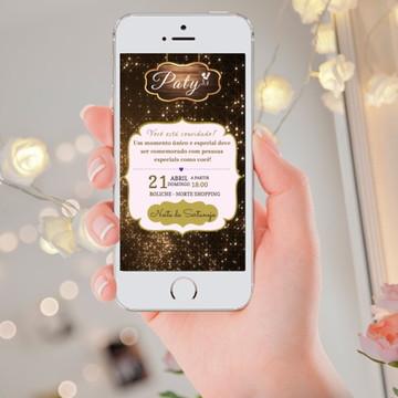 Convite Digital Feminino (NIGHT GOLD)