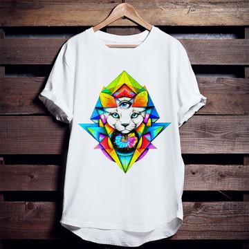 Camiseta Gato Místico 3 Olho