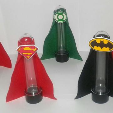 Liga da Justiça tubete com capa de feltro