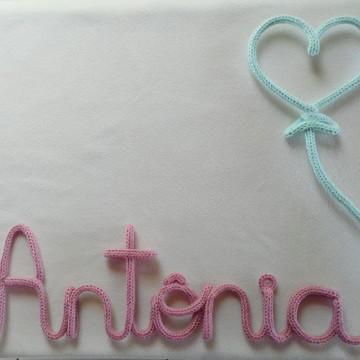 Nome em tricô -Antônia