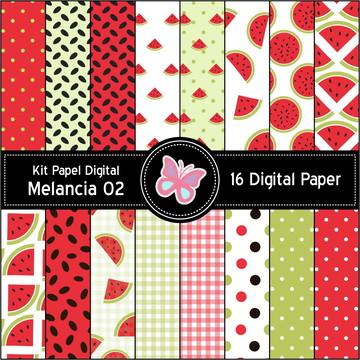 Kit Papel Digital Melancia